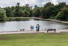 One of the two lakes in Verulamium Park which are fed by the River Ver
